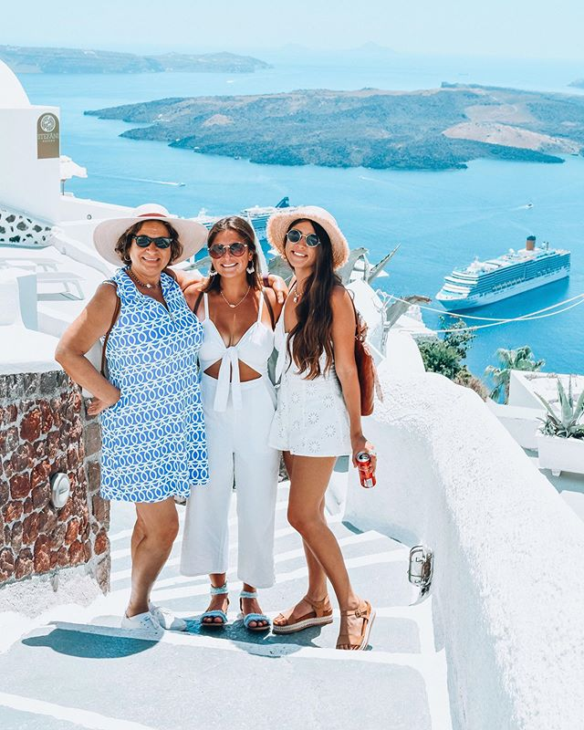 Explored the island of Santorini, Greece with my favorite people.☺️ Every Turn was crazy beautiful & more breathtaking then the next! I want to live on this dreamy little island forever & eat all the feta fries I can shovel into my mouth 🙌🏽🍟 🇬🇷