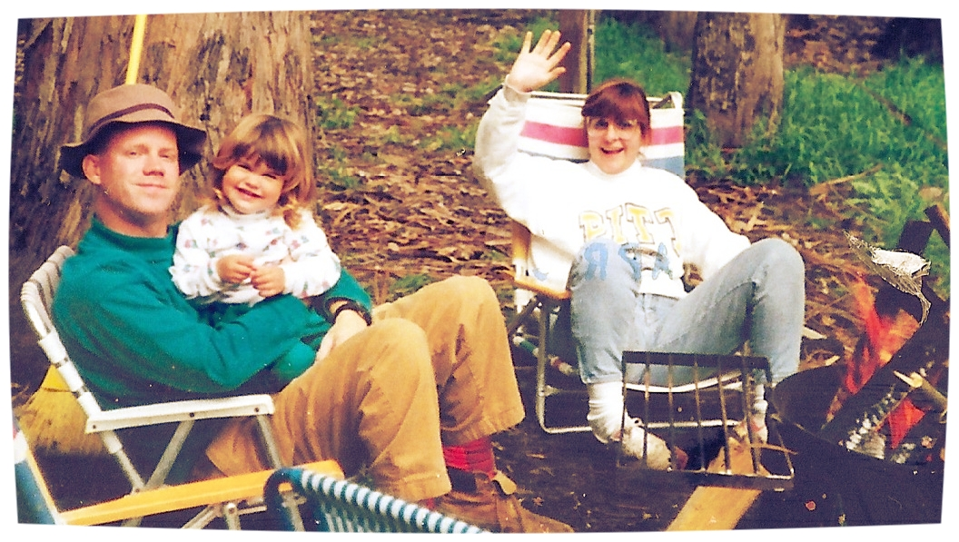 Todd, Abi and Marcia during one of our many camping trips to  Big Sur  circa 1994. Abi is probably three in this photo. She was a little bit in love with Todd, even then.