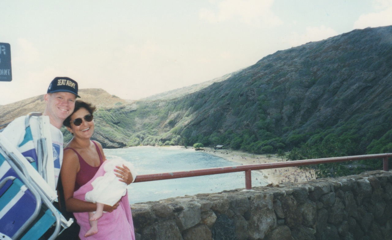 Todd,Marcia and Chloe at  Hanauma Bay  in 1995.