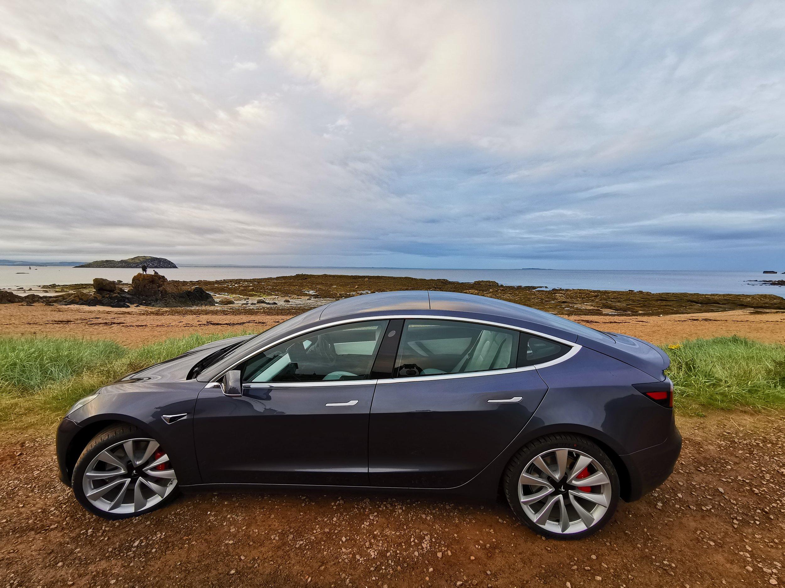 Tesla Model 3 in North Berwick, Scotland