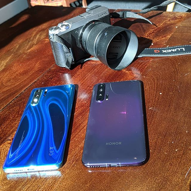 As we start filming for our content covering the @ukhonor Honor 20 Pro, we can't help but think a comparison with the Huawei P30 Pro would be good. Would you like to see that? Let us know. #Honor20Pro #PhantomBlack #Purple #ShotOnAndroid #Honor