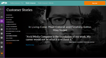 """AVID """"Customer Stories"""" - Feature Article (Sept. 2018) - Avid does a full feature article about Mike's career using Avid Media Composer along with his full career path that led him to this point. Including a 6 part tutorial series Mike made along with Avid, based on Mike's 2018 NAB presentation. You can see all 6 parts below.(Click image for full article)"""