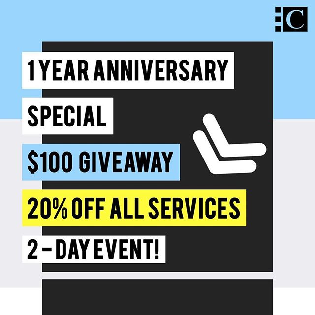 🎆1 YEAR ANNIVERSARY SPECIAL🎆 🎊🎊🎊20% OFF ALL SERVICES 🎊🎊🎊 Yes, you heard that right. For today and tomorrow only, 20% OFF ALL SERVICES.  Over the past year, we have received huge support from our community, friends, and patrons. We have reached a milestone with our establishment. Ciel Nail Lounge is PROUD to announce that we have been successfully operating for 1 full year! 🎉  That's not all! To show our gratitude, we are also giving you the chance to win $100 towards your next visit.  It is easy to participate in the event! All you have to do is:  1. LIKE our page 👍 2. TAG your friends in the comments 👯 👯  How easy is that? By following the above, you are able to receive 20% OFF ALL SERVICES (April 1st - April 2nd) AND you will be entered in our $100 gift card giveaway. 🥂🥂🥂GOOD LUCK🥂🥂🥂 🕕 The giveaway ends at 11:59 PM on 04/04/19. 🏆 Winner is randomly drawn & will be announced April 5th at noon on our FB Page. 💸 Prize valued at $100 to spend at Ciel, redeemable within 2 weeks of winner announcement Promotion excludes the purchases of gift cards.  https://www.cieltx.com/  #CielNailLounge #CNL #DFWNails #Giveaway