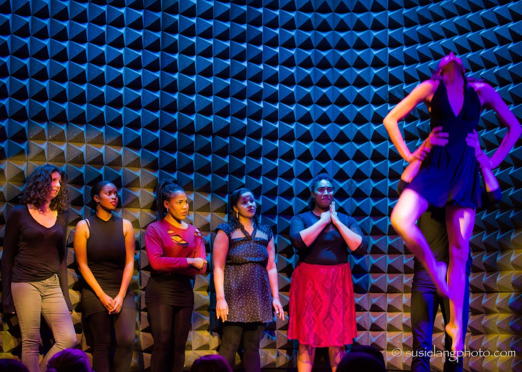Monique Sanchez, Reese Antoinette, Jennean Farmer, Anya Pearson, Aleca Piper, Kayla Banks, and Shannon Giles in the Showcase Production at Joe's Pub at The Public Theater. Photo: Susie Lang