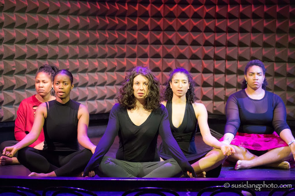 Monique Sanchez, Reese Antoinette, Jennean Farmer, Aleca Piper, and Kayla Banks in the Showcase Production at Joe's Pub at The Public Theater in April 2018. Photo: Susie Lang
