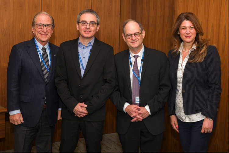 Dr. Bernard Goldman (Dr. Goldman founded the division of cardiac and vascular surgery at Sunnybrook), Dr. Ehud Regev, Dr. Bradley Strauss, Einat Enbar