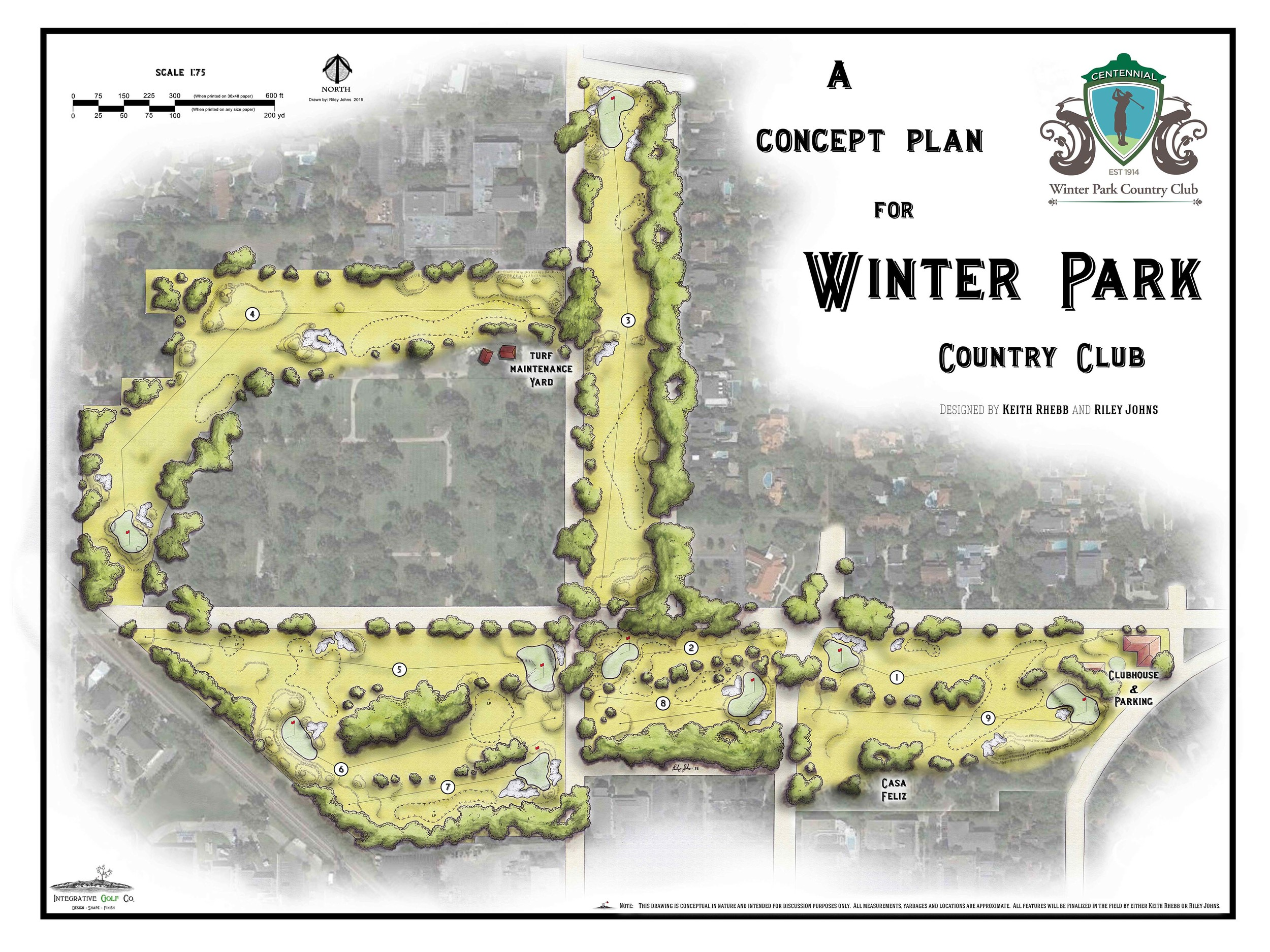 Above: Concept Plan for the Golf Course