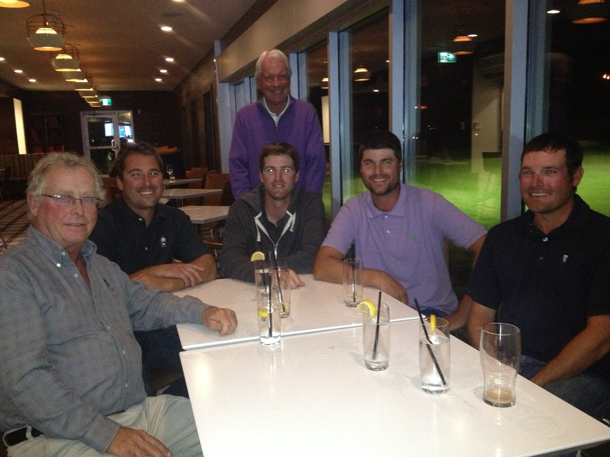 From left to right - Rod Whitman, Riley Johns, Bill Coore, Andrew Littlefield, Trevor Dormer, Keith Rhebb