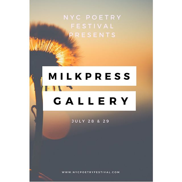 Hello Friends! At the Poetry Festival this summer, Milk Press will have a gallery of visual art. It will feature works by Garcia De Marina, Shannon Ryan, Martha Maynard, and more.  The gallery is still accepting submissions from visual artists. For more information, check out www.newyorkpoetryfestival.com
