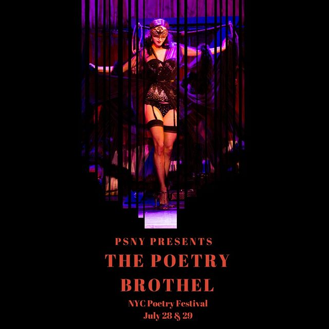 Come one, come all to see the Poetry Brothel at NYC Poetry festival.  The Poetry Brothel is an immersive literary experience. Inspired by the turn-of-the century brothels in New Orleans, Paris, and Buenos Aires. The Poetry Brothel presents a rotating cast of poets each operating within a carefully crafted character, who impart their work in public readings, spontaneous eruptions of poetry, and most distinctly, as purveyors of private poetry readings on beds, chaise lounges and in private rooms.  To learn more about the Poetry Brothel, visit http://www.thepoetrybrothel.com