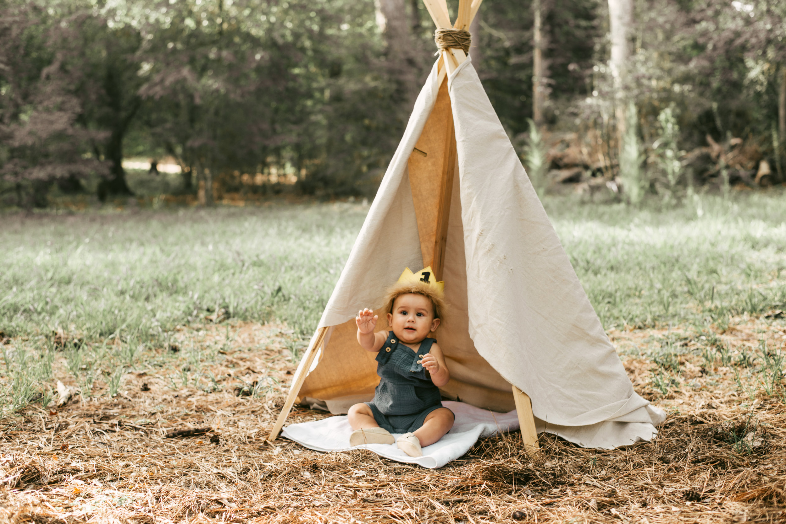 Rawr!!   Fun Fact: The only reason Ivan didn't crawl out of the teepee was because he did not like the texture of the grass. (works for me!!)