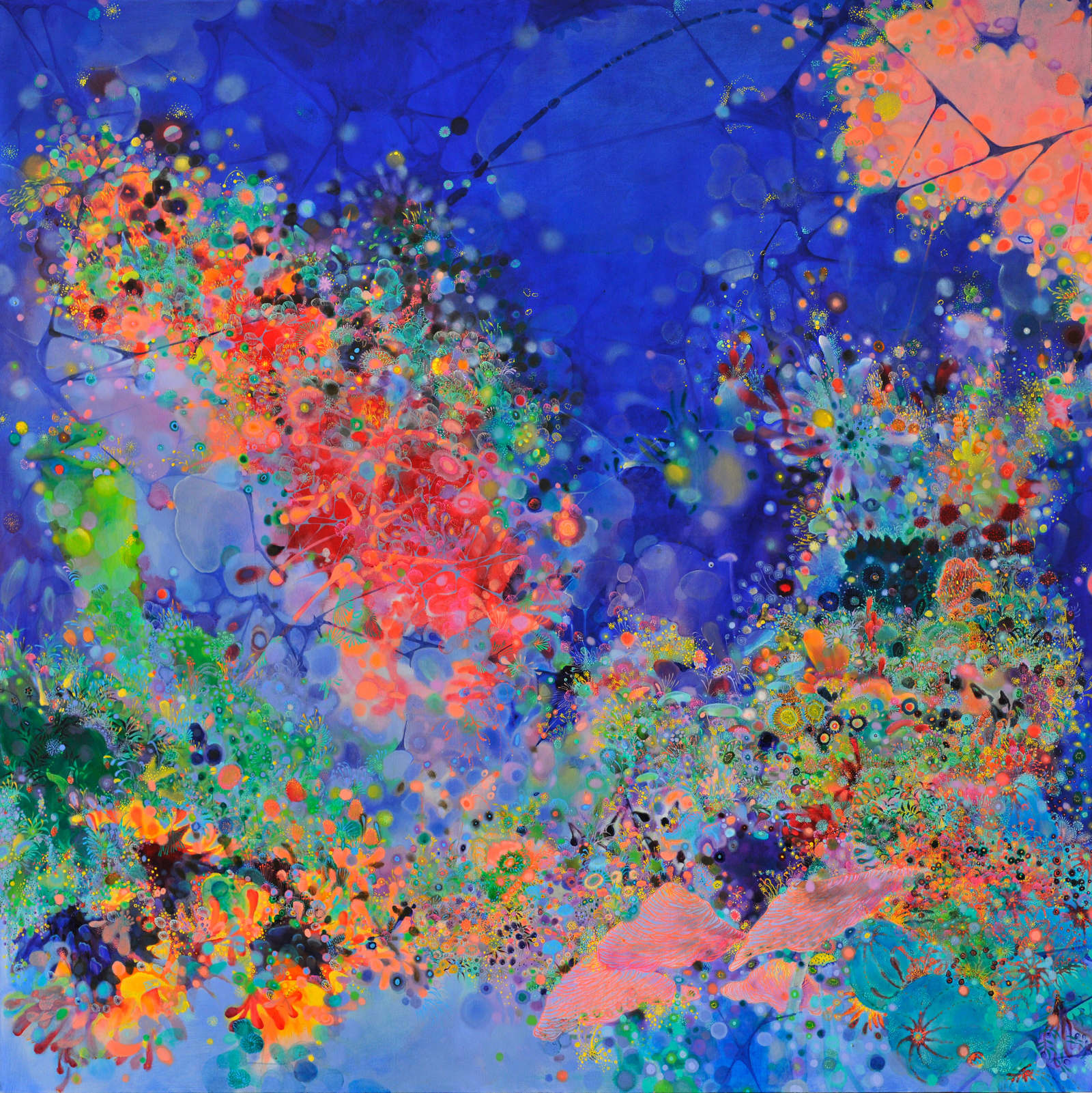 "Dark Fragrance No.1, 71"" x 71"", oil on canvas, 2012"