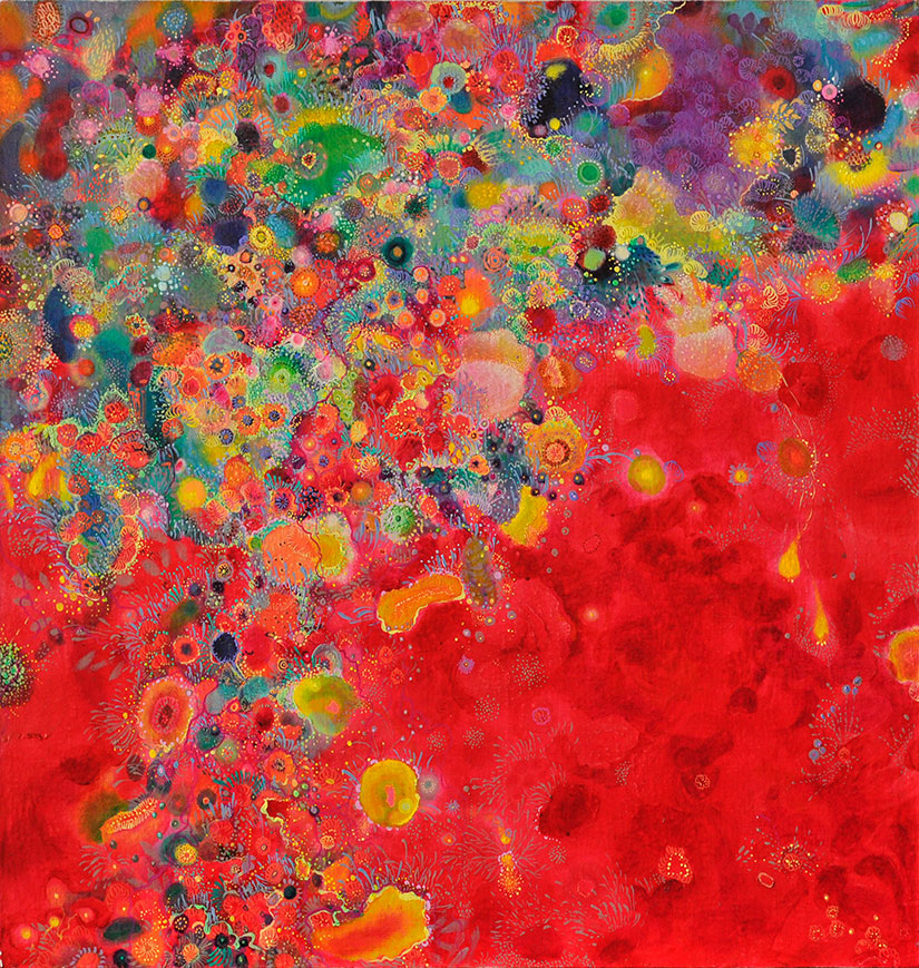 "Dark Fragrance No.15, 24"" x 24"", oil on canvas, 2012"