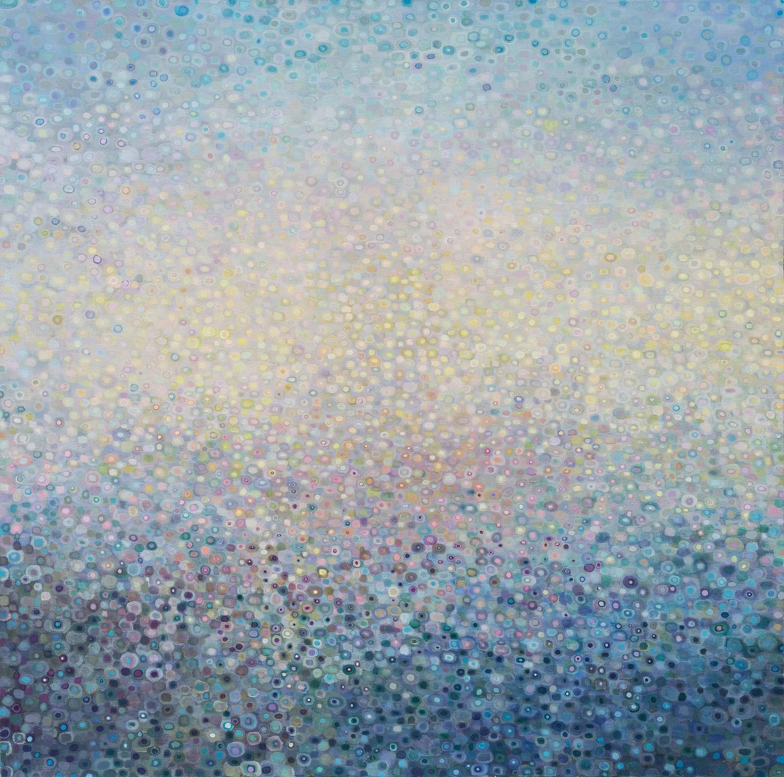 "Luminescence No.11, 40"" x 40"", oil on canvas, 2017"