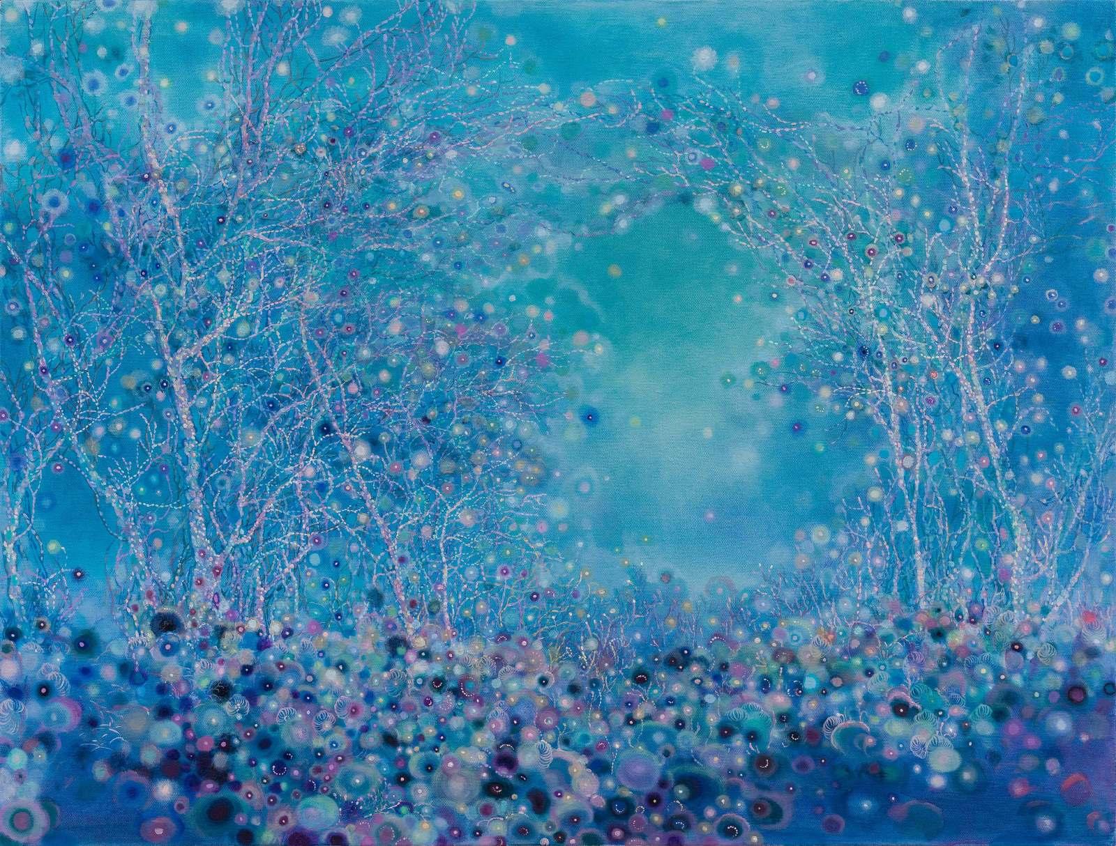 "Luminescence No. 8, 32"" x 42"", oil on canvas, 2016"