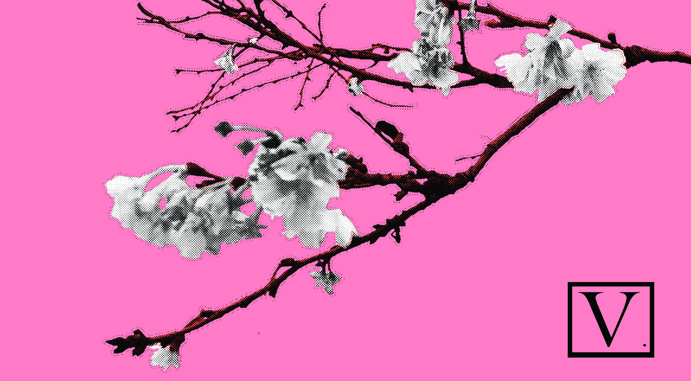 "Cherry Blossom Pink & White, 15 edition + 2 Artist Proof, inkjet print on archival paper 290g/sm,  20"" X 37"", 2018"