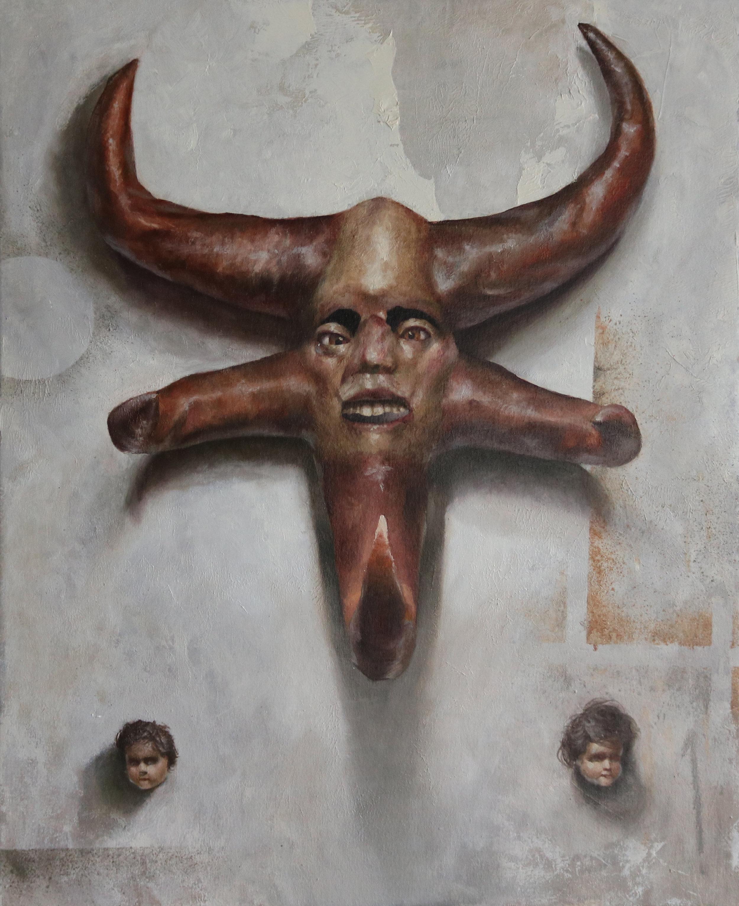 """Jotham Malavé  La cara del extasiado  Oil on canvas  32"""" x 26""""  2018"""