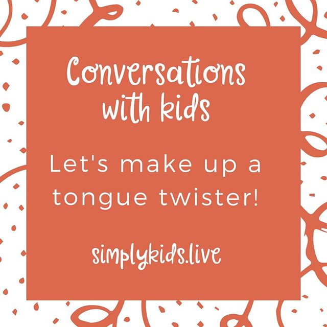 Comment what your little one came up with! We'll give it a shot!⠀⠀⠀⠀⠀⠀⠀⠀⠀ ⠀⠀⠀⠀⠀⠀⠀⠀⠀ #tonguetwister #conversationswithkids #familytime #cutekids
