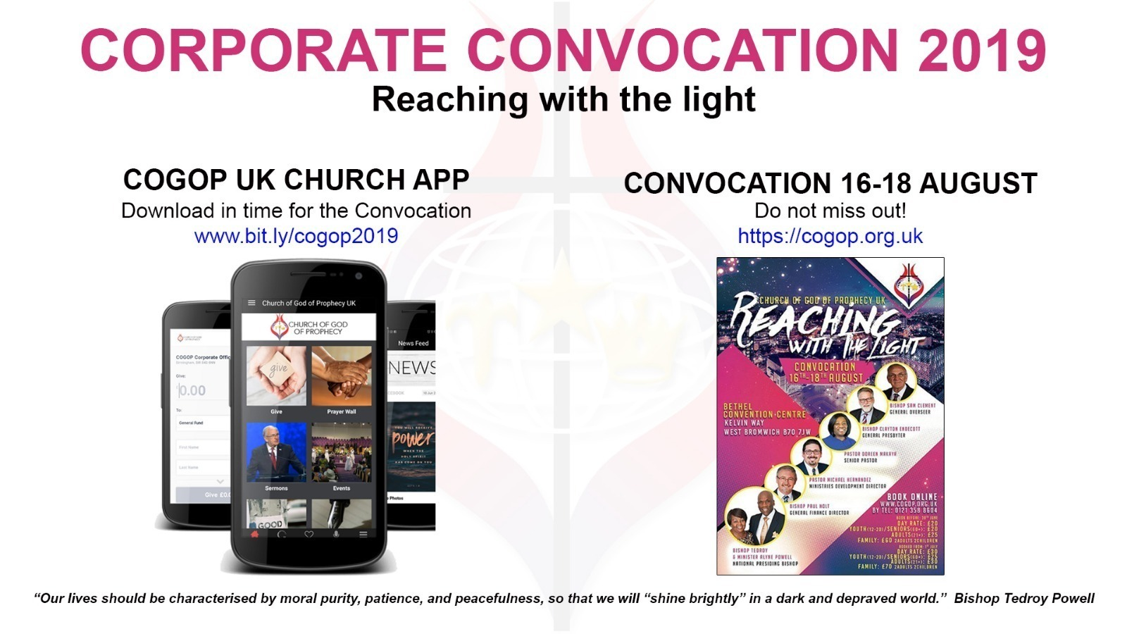 Find all the live streams from the Corporate Convocation weekend  here .