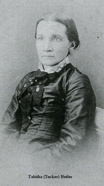 TABITHA (TUCKER0 BUTLER WAS A PIONEER ON THE TUALATIN PLAINS AND WIFE OF ISAAC BUTLER; SHE WAS THE MOTHER OF 10 CHILDREN AND DIED AT A YOUNG AGE. ONE OF MANY BRAVE PIONEER WOMEN WHO TRULY MADE THE SETTLEMENT OF THE TUALATIN VALLEY SUCCESSFUL.