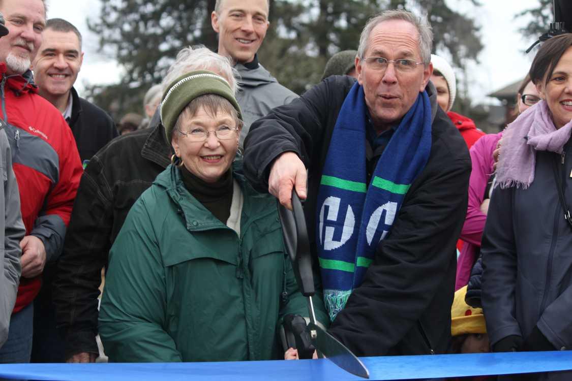 Bonnie Kooken with Steve Callaway Hillsboro Mayor