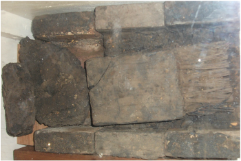 A section of the original cable that provided electricity to the church.