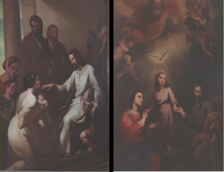 T he Holy Family.                          Christ Blessing the                                                              Children.