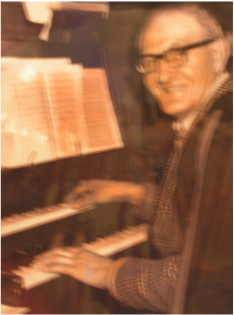 Ron Harvey was church organist for many years.