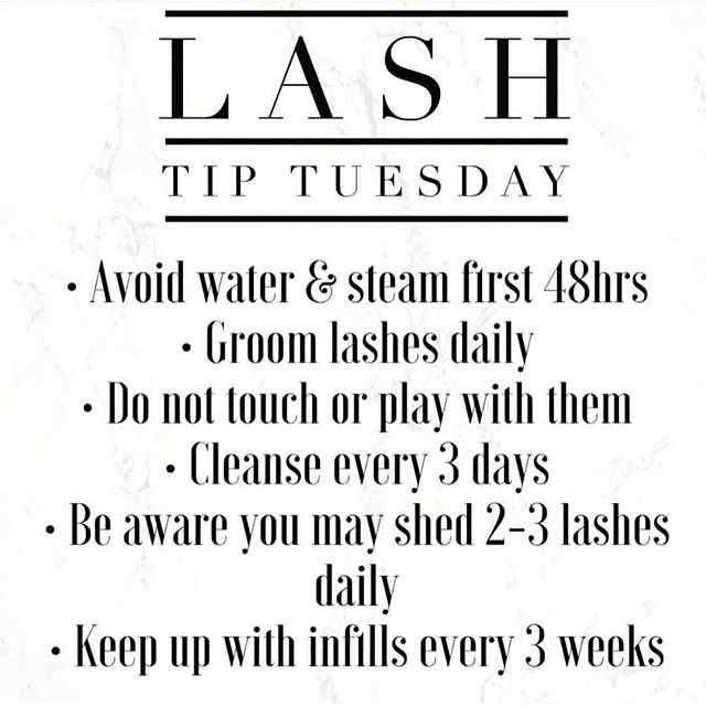 Tip for Tuesday #lashcare #tuesday #lashes