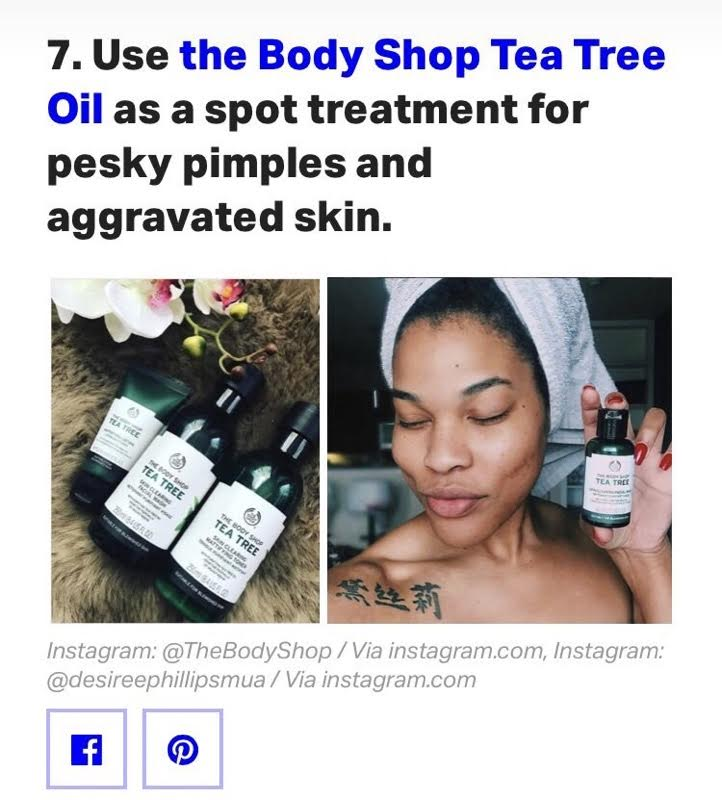 Fighting Acne Scars/Blemishes? - Hi guys! If you follow me on Insta, you may have seen the post I made about being featured on BuzzFeed as they displayed me using one of the products that I use for my skincare routine, which is The Body Shop Tea Tree Clearing Facial Wash. I wanted to share with you my secret to clearing up acne scarring and blemishes. If you are like me, I struggle with acne scarring and blemishes. Annoying right? I know how you feel. From my experience with this product, I think I have found a winner. The Body Shop Tea Tree Clearing Facial Wash has done wonders for my skin. With its infused properties of tea tree oil, it fights breakouts every time I use it. Not only this, it also removes excess oils and impurities from my skin. It will leave your skin feeling refreshed and purified. You will want to use this twice a day, morning and night. I would definitely recommend this to someone who has acne-prone, oily to combination skin. This can be purchased at your local Ulta Store and I have provided the link below for you online shoppers! I hope this helps! Feel free to like, comment, or share!The Body Shop Tea Tree Clearing Facial Washhttps://www.ulta.com/tea-tree-skin-clearing-facial-wash?productId=xlsImpprod4181095