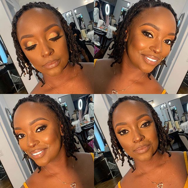 It was all smiles during this #DesiredGlamSession!  Check out this #bridalpartyglam on this beauty from yesterday! ✨ __________________________________________ #desireephillipsmua #desirelashco #dallasmua #dallasmakeupartist #Makeup #bridalmakeup #glowingskin #texasmua #desiredglamsessions #melanin