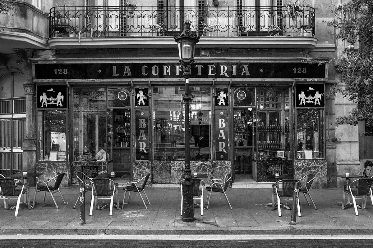 La confiteria - Address: Carrer de Sant Pau, 128Area:El RavalStandard Hours: Monday to Friday 9.30am to 5pmToday: opening in May 2018Tomorrow: opening in May 2018Spots: 16No pre-booking necessaryMAP