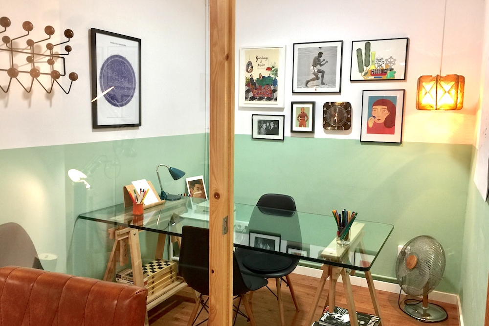 the meeting room - Work in our meeting room for 1€ extra per hour and per person.Book the meeting room: hello[a]cofficebarcelona.com