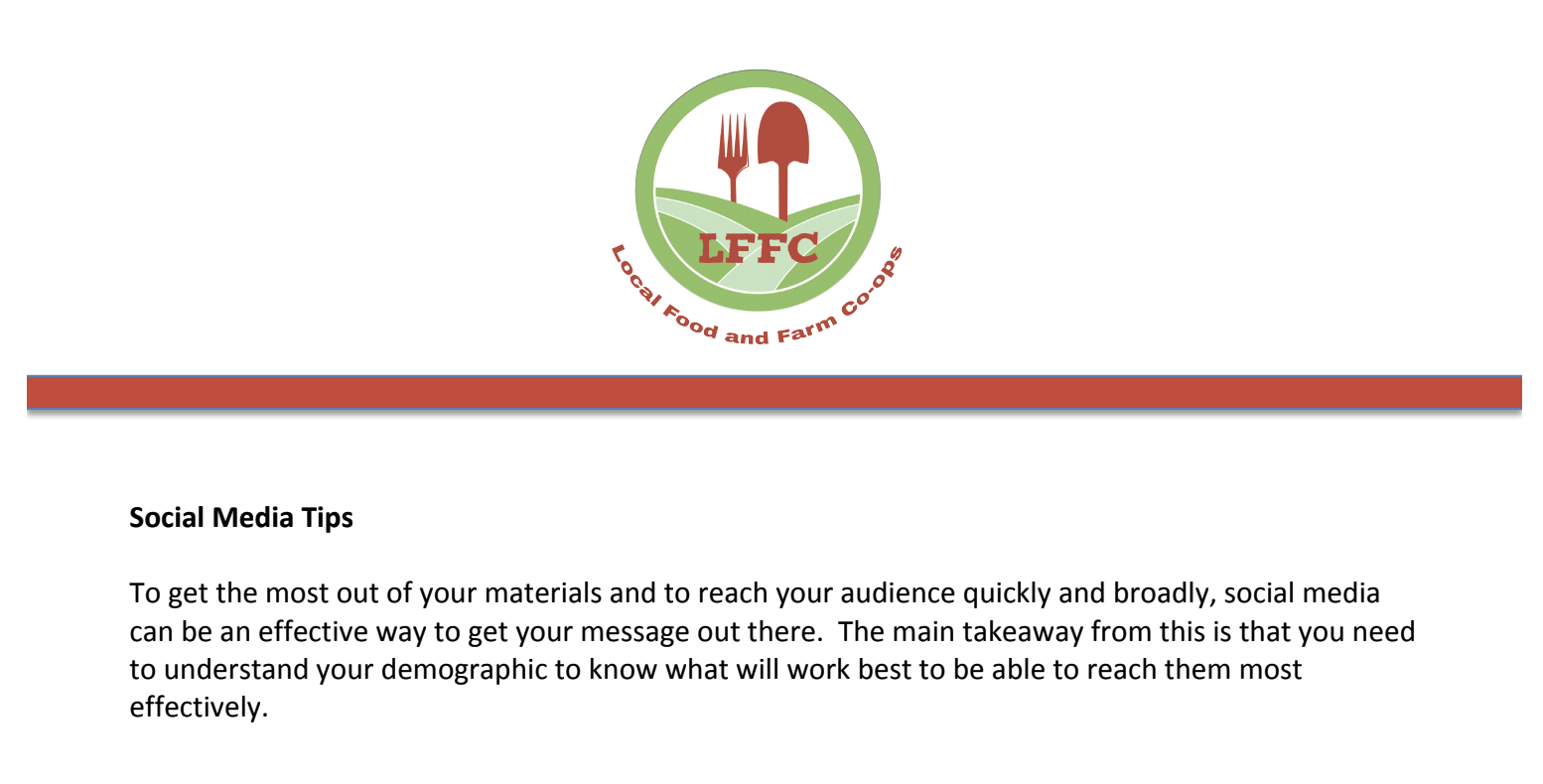 LFFC offers this resource as a guide to good uses of social media.  Click to view this PDF .