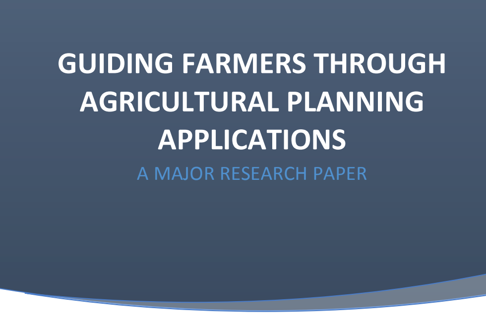 This research report accompanies the GHFFA guide, and reviews the current situation for producers in Ontario.  Click to view PDF.