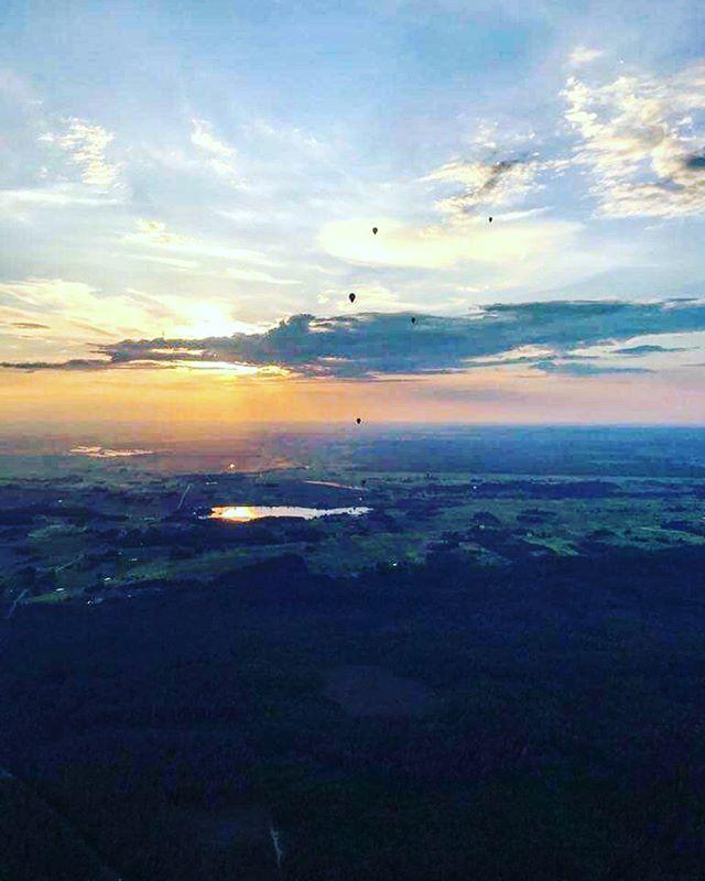 First flight around Birštonas and Prienai 🇱🇹🎉🎈💪 #birstonotaure2019 #birstonas #hotairballoon #airballoon #lithuania #orobalionai #skrydisorobalionu