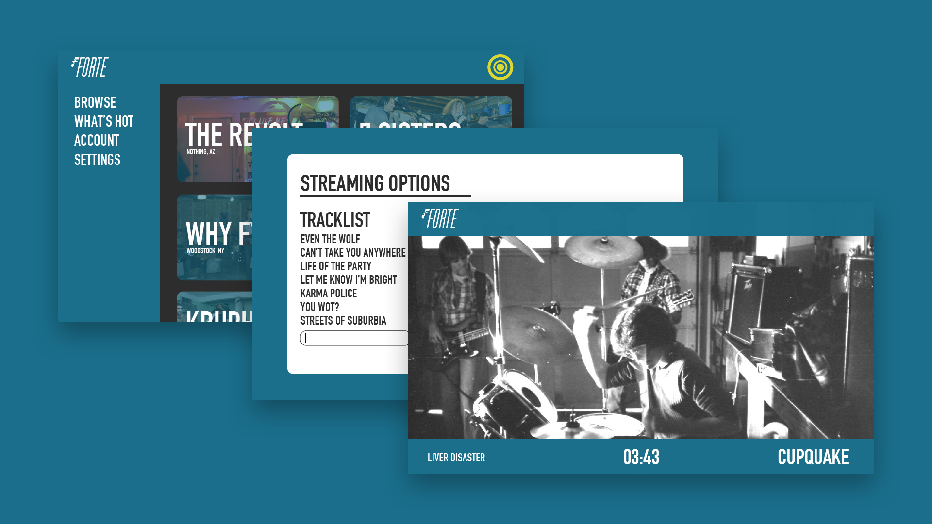 Premium users can create a custom setlist of performances and stream from their sessions to the entire world.