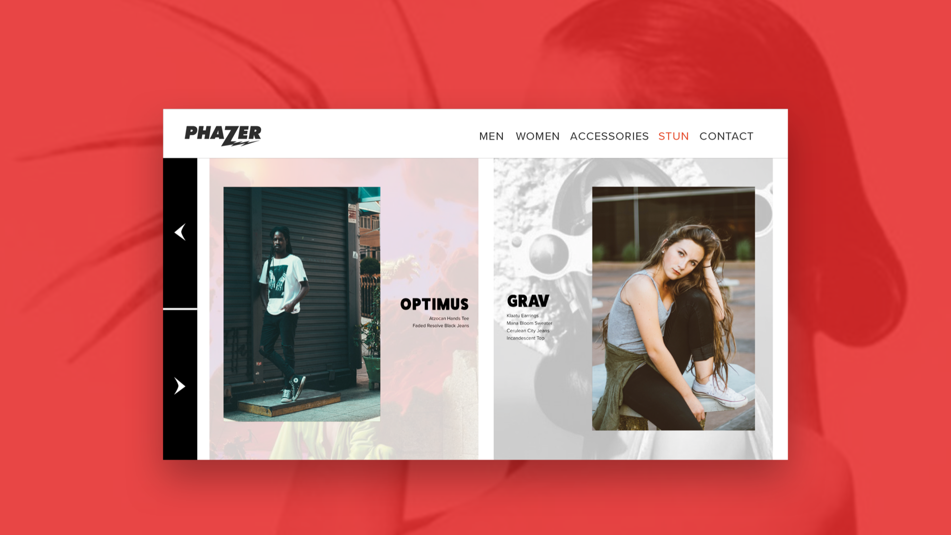 Phazer Stun, an online magazine that functions as a stylist and a lookbook.