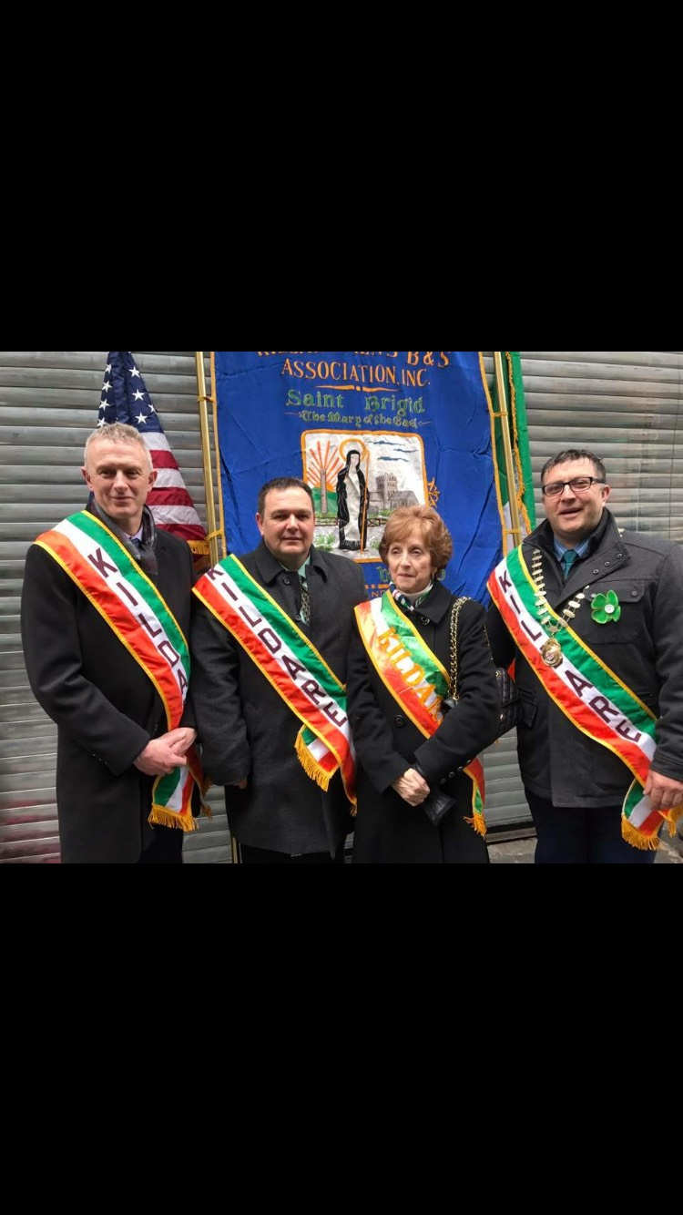 - Niall Morrissey Director of Services Kildare County CouncilJohn Duggan President Kildare Association of New YorkCarmel Mangan Vice President Kildare Association of New YorkMayor of Kildare Martin Miley