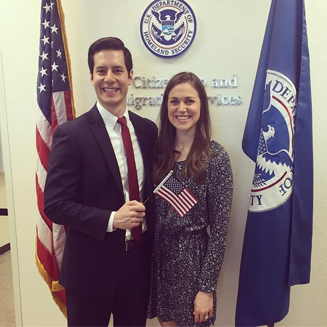Can't believe it's been a year since this guy became a US Citizen! It was such a happy and sad day... sad because being married to a non-citizen was definitely the coolest thing about me 🤣, happy because America is all the better to have him! #grateful #husband #yesplease • • • #godisgood #getaftergrateful #theabundantlifenow #proudwife #bedeeplyrooted