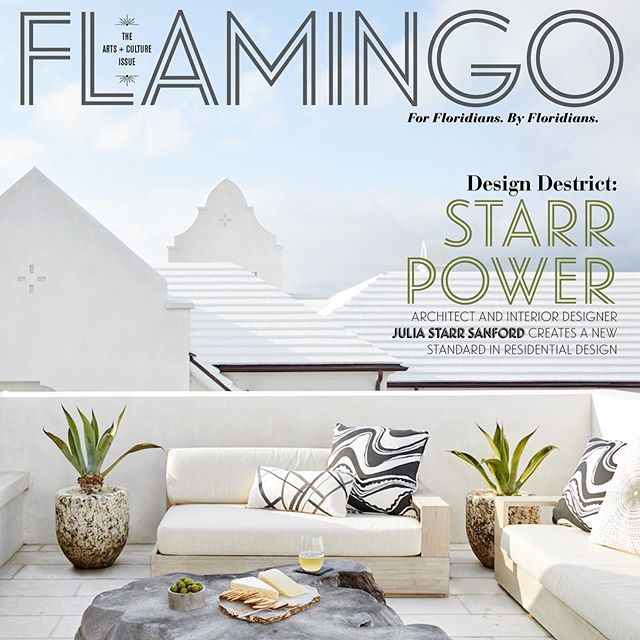 "Thank you @theflamingomag for featuring @juliastarrsanford @starrsanforddesign and @sublime_original in your most recent publication. ""There is perhaps a more feminine sensitivity to space and light in the richness of natural materials throughout our interior spaces, native cypress and coral stone, with an occasional curved stairwell or curved wall in the courtyard that has a feminine flair.."" Photo: @briewilliams  Click the link in our bio to read the full story."