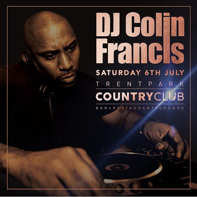 DJ Colin Francis Saturday 6th July.. 😎😝 The legendary DJ Colin Francis will be starting his monthly residency at The Country Club on Saturday July 6th playing the very best Hip Hop, RnB and Club Classics with supporting DJ's on the night plus dancers, bottle service VIP areas and much more.. Tickets available now via ccsaturdays.ltbevents.com