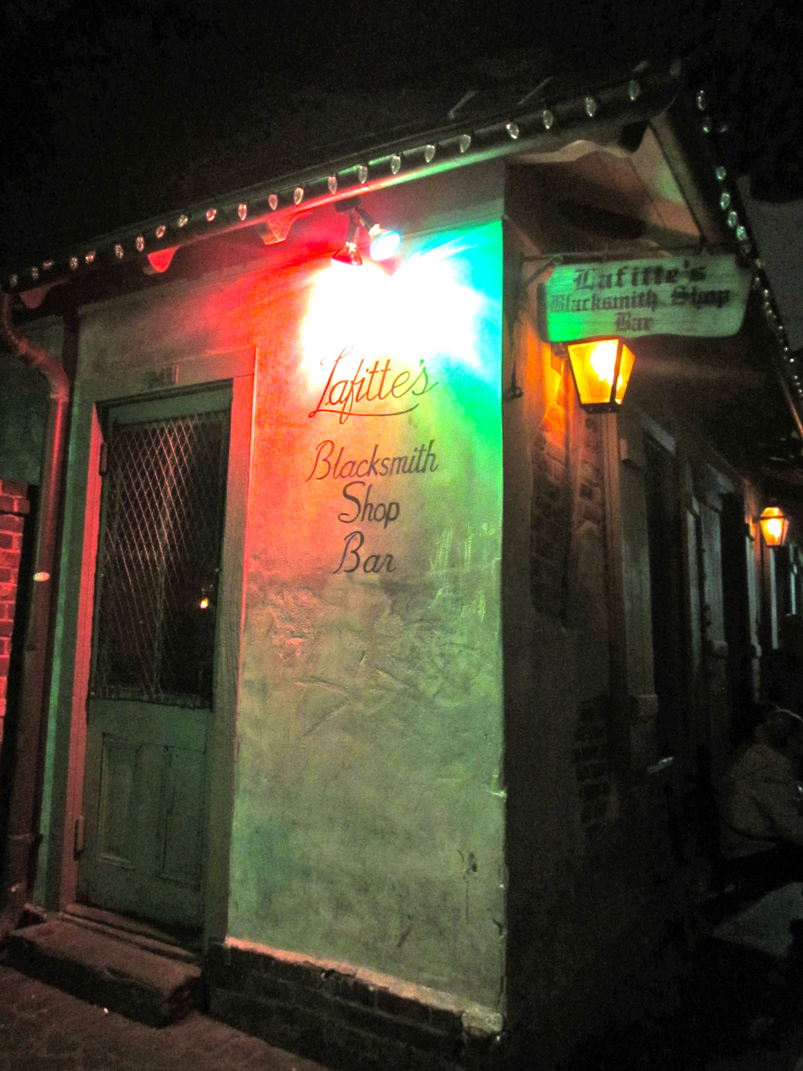 Finally, one cannot forget to mention the famed Lafitte's Blacksmith Shop. My friends and I walked past it one evening and made a mental note to stop back, not knowing it was well-known as one of the oldest bars in the country. The place looks as old as it must be, with dim lighting and many little candles twinkling around the tables and piano that always seemed to be in use. I went back on my last night and enjoyed a drink while chatting with fellow travelers and listening to the live music of someone banging on the piano while customers sang and shouted along.