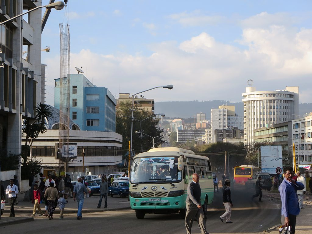 Gambia Street in downtown Addis Ababa
