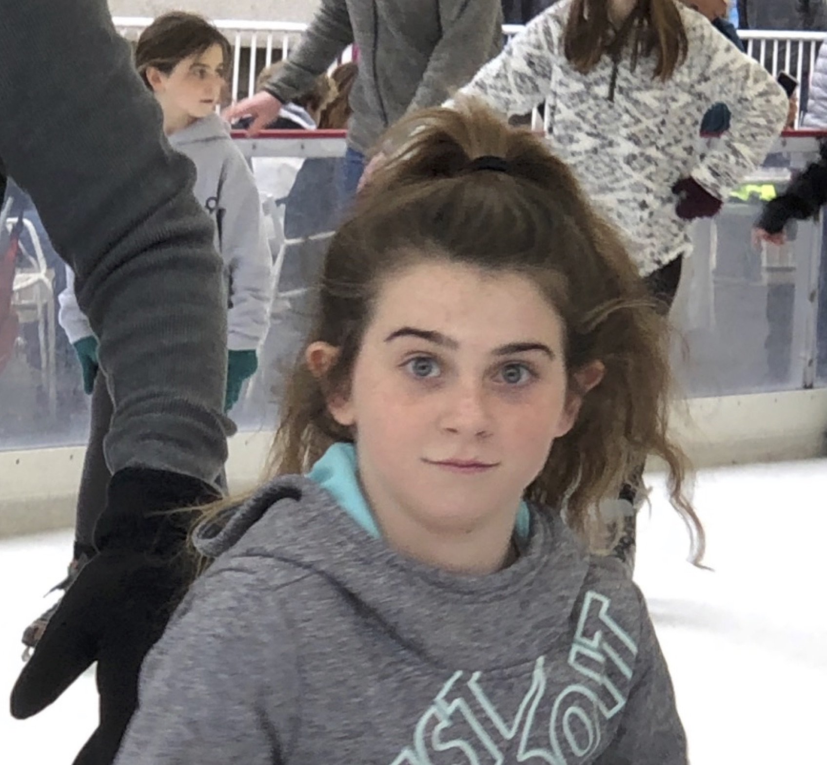 Lilly went ice-skating with friends and family at Crown Center. Ice skating takes balance and courage, both of which you obviously have. Surprised by the camera, I see you were having a blast! And, I see your twin sister, Sandy, in the background too. Thank you for sharing, Lilly!