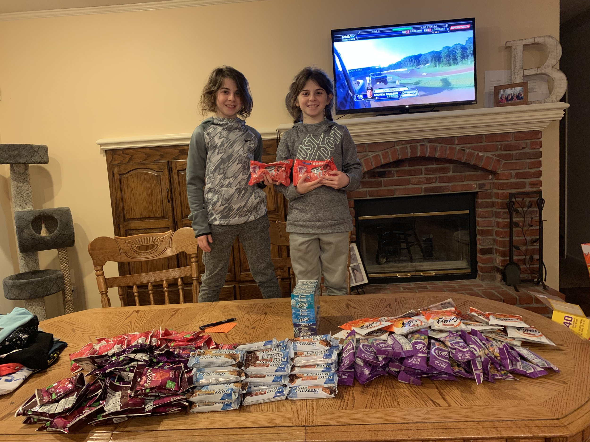 Sandy & Lilly getting Valentines Day bags ready for their coaches. It's so much fun to give, isn't it? I'm sure your coaches will appreciate them - but mostly that you thought enough of them to show you are thankful for their investment in your lives.