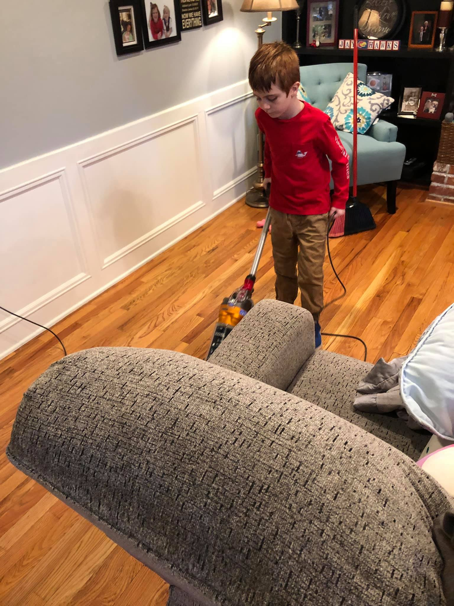 Braxton is being his mom's legs since her ankle surgery. What a BIG HELP he is! Working around the house makes you a VALUED member of the family. Find a way to help your mom or dad this weekend!   Thank you  , Braxton!
