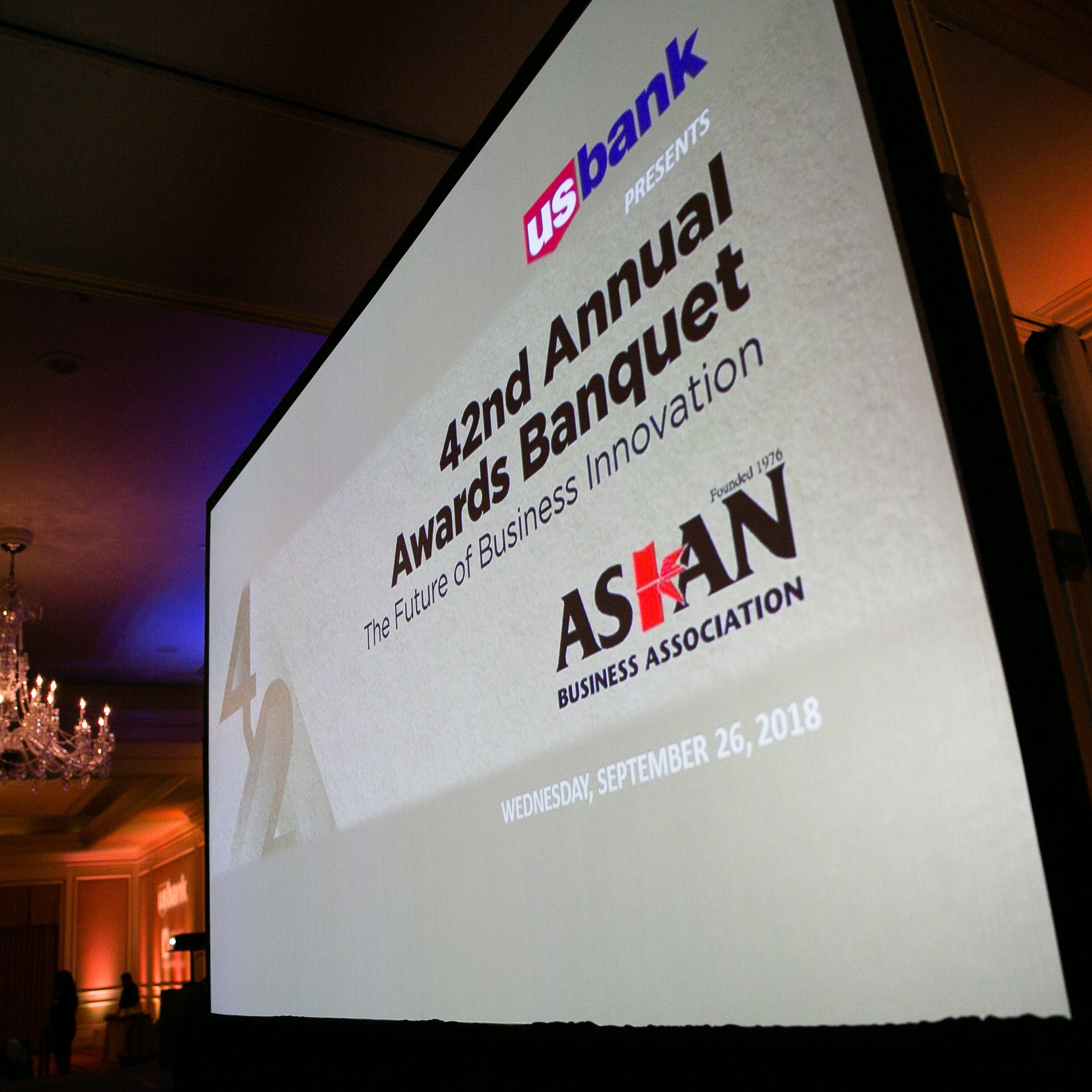 42nd Annual Awards Banquet*, Asian Business Association (ABA) - Huntington Langham Pasadena | Pasadena, CASeptember 26, 2018