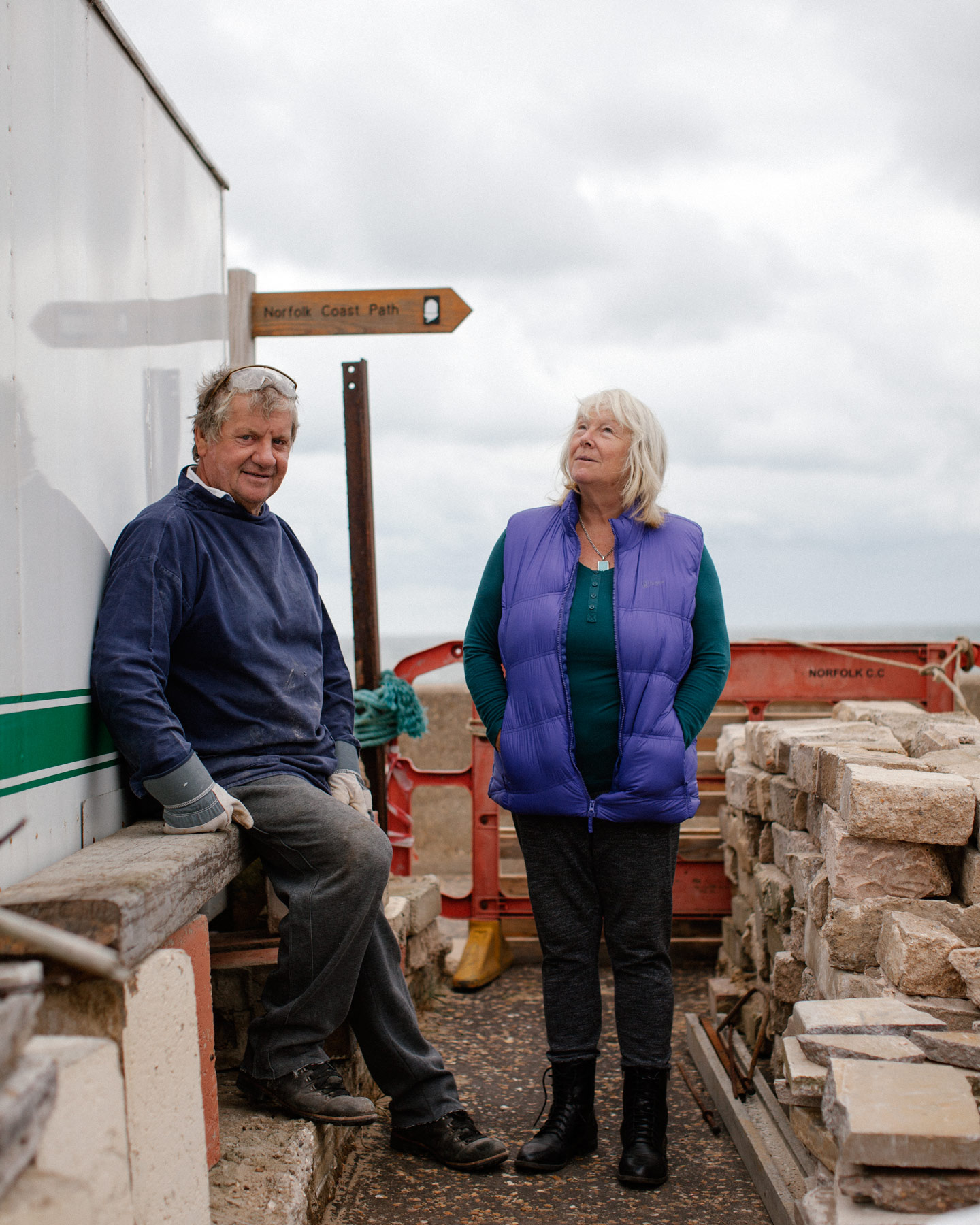 Tony & Yvonne King also lost their home in Bacton, Norfolk, to the tidal surge of 2013.
