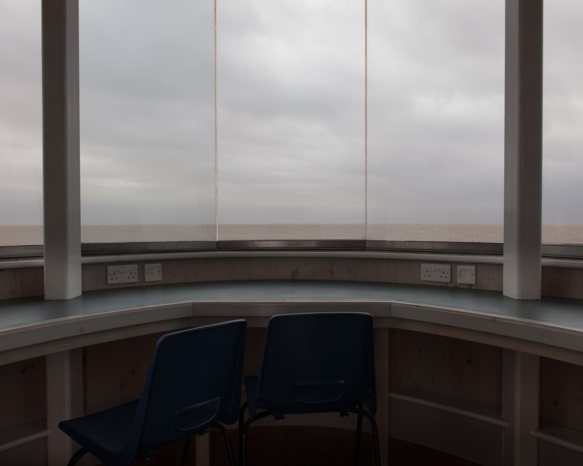 The view from Jaywick martello tower. In 1953 Jaywick, like the rest of the east coast, was hit by the largest tidal surge in modern times. The flood claimed the lives of 35 people and decimated the entire village.
